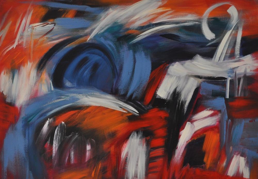 09_2021, ACRYL AUF LEINWAND, 70 x 100 CM